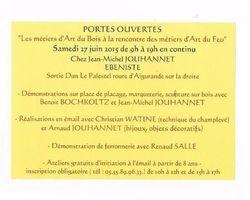 Monsieur Jean Jouhannet - VILLARD - LES MÉTIERS D'ART DU BOIS À LA RENCONTRE DES MÉTIERS D'ART DU FEU